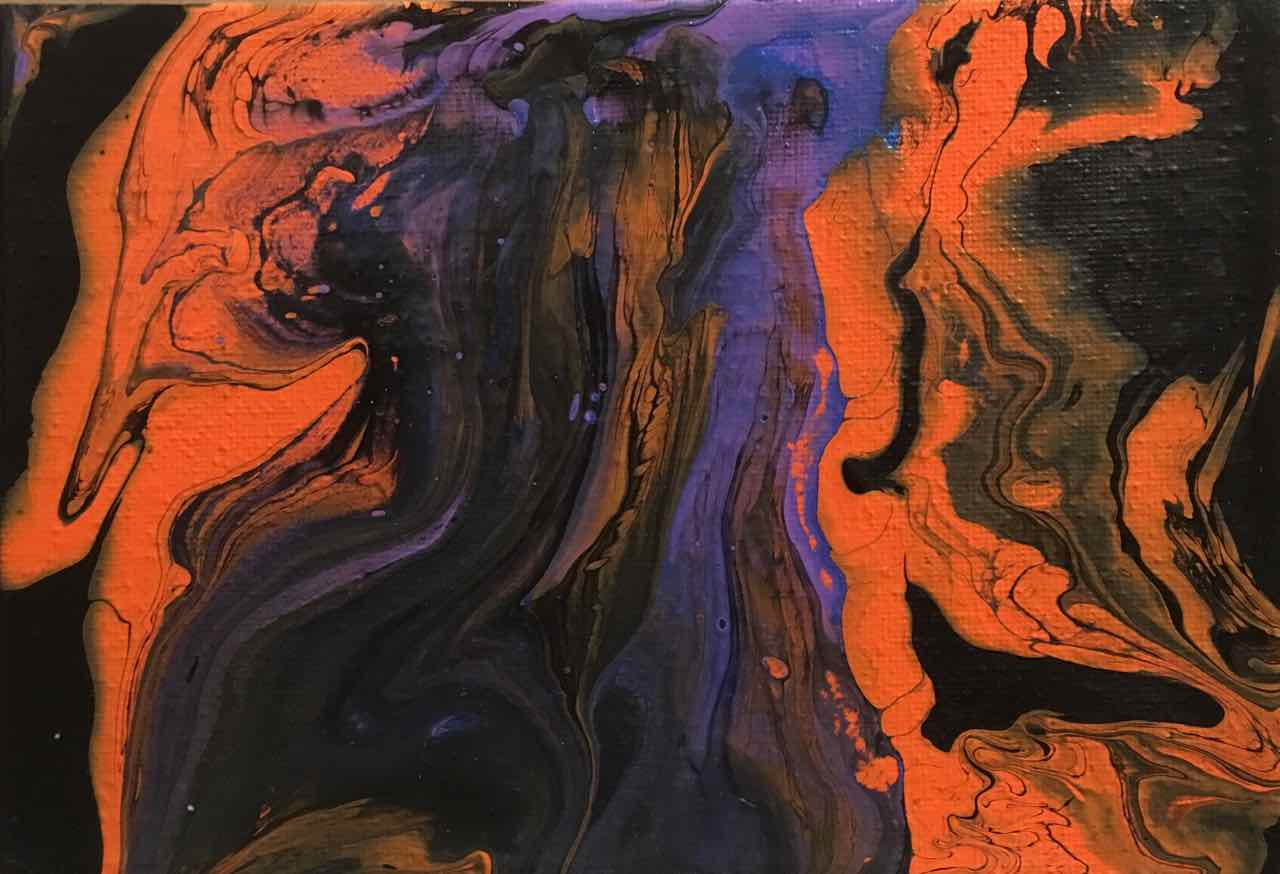 Acrylic Abstract Pour III